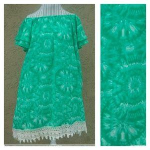 Boutique Boho Shift Dress NWOT